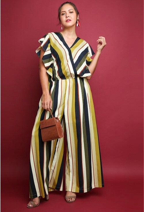Multicolor Striped Jumpsuit PLUS
