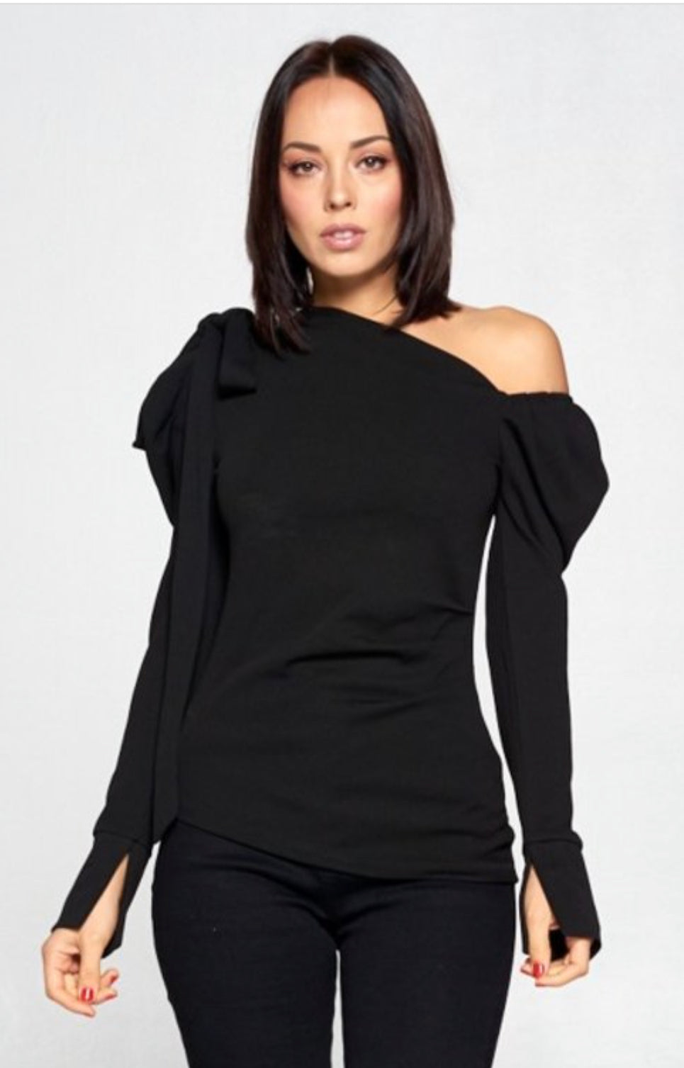Drama Queendom Puffy Off Shoulder Long Sleeve Top - PREORDER