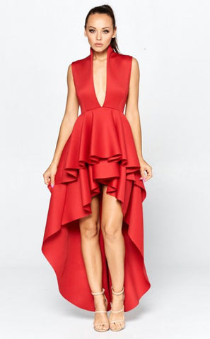 Chica Off-White Off Shoulder Puffy Sleeve Dress