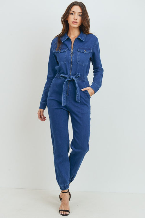 Better Than Basic Denim Jumpsuit