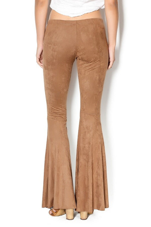 Ring The Bell Faux Suede Bell Bottoms
