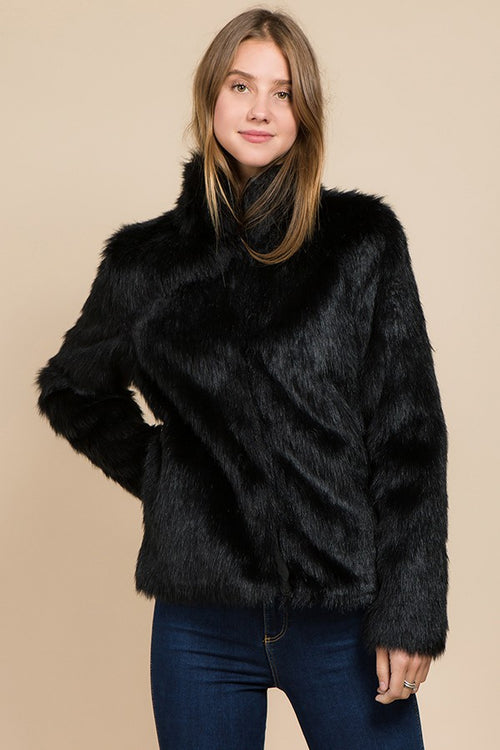 Foxy Faux Fur Jacket Coat