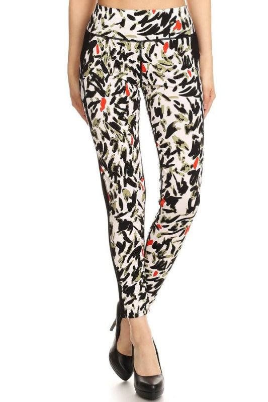 Abstract Print Activewear Leggings S/m Activewear Leggings
