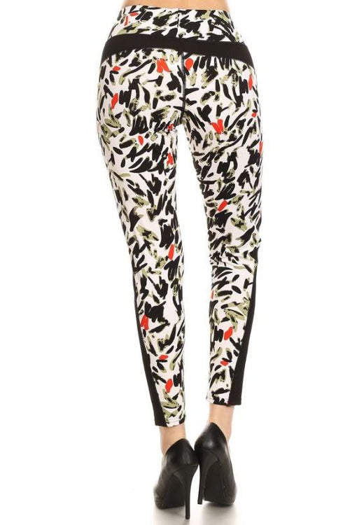 Abstract Print Activewear Leggings Activewear Leggings