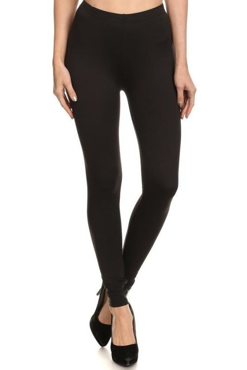 Black Fleece Lined Leggings Pant