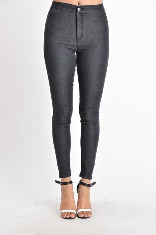 Black Washed High Waist Skinny Jeans - Plus Xl Jeans