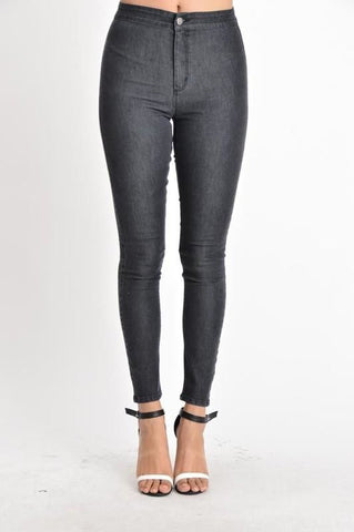 Sandy High Rise Skinny Jeans w/Heavy Hand Sanding & Destruction-PLUS