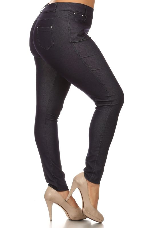 Burgundy Jegging Style Leggings - Plus/curvy Pant