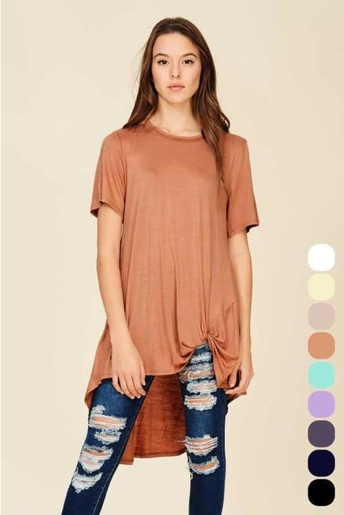 Carmen Coffee Hi-Lo Knit Top S(4-6) Top