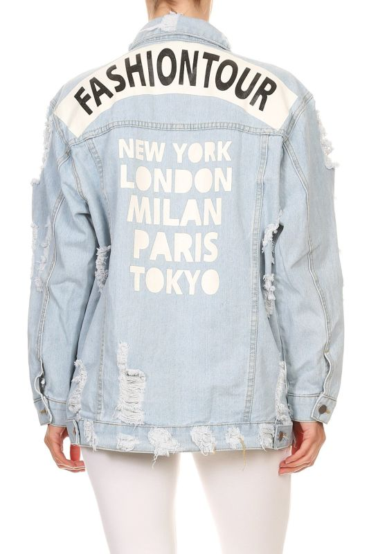 Fashion Tour Light Denim Jacket S(4-6) Jacket