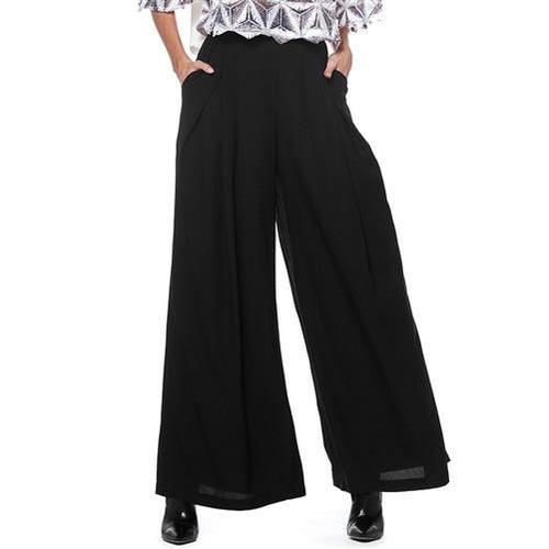 Gracia Black Crepe Wide Leg Pant - Plus Xl(14/16) Pant