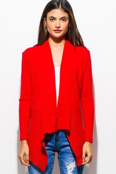 Holly Red Cardigan Sweater L(8-10) Sweater