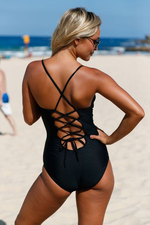 Lace Ruffle One Piece Swimsuit Swimsuit