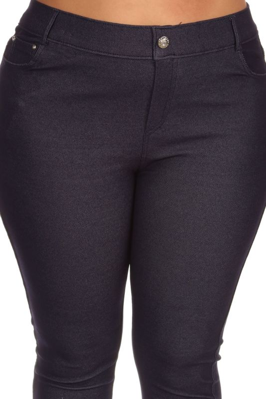 Navy Jegging Style Leggings - Plus/curvy Pant