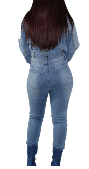 Niecy Light Wash Denim Skinny Jeans Jeans