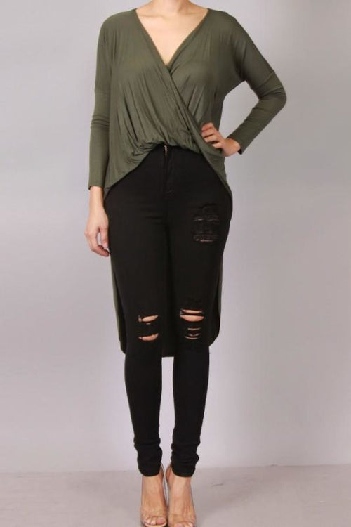 Olivia Hi-Lo Cross Front Top S(2-4) Top