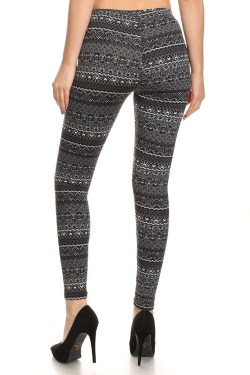 Print Fleece Leggings Pant
