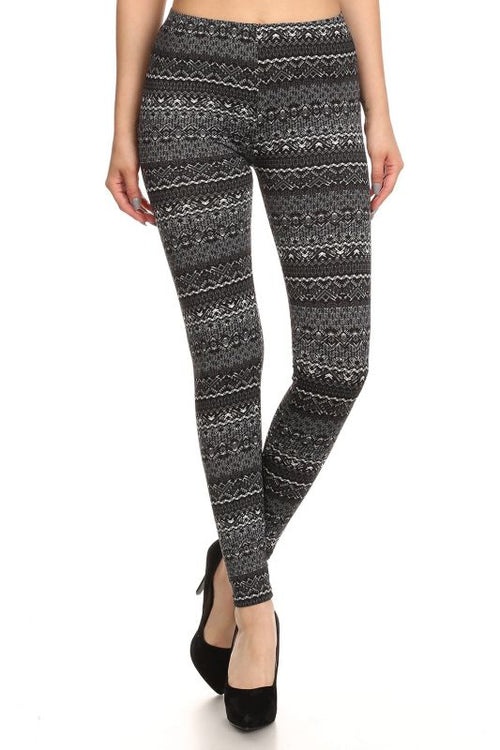 Print Fleece Leggings S(2-4) Pant