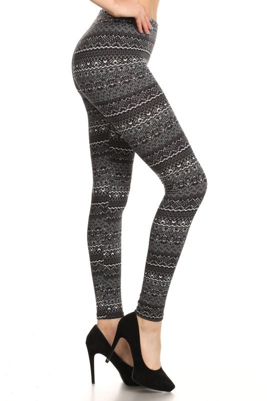 Print Fleece Leggings - pant