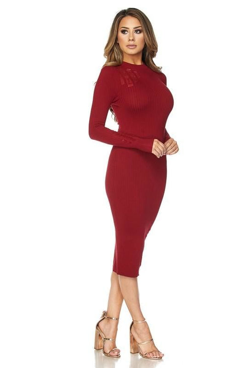 Sweet Wine Distressed Midi Sweater Dress Sizes: S(4-6)