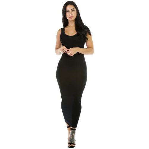 Tank Style Maxi Sundress S / Black Dress
