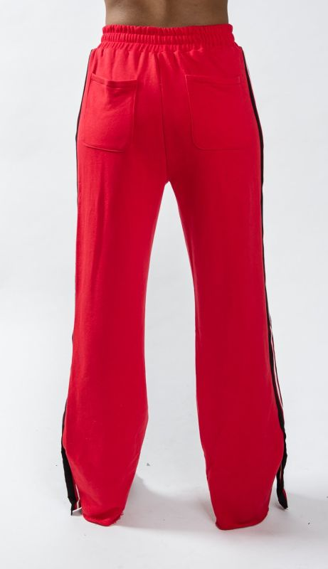 Tiffi Red Varsity Flexleg Sweatpants Activewear Leggings