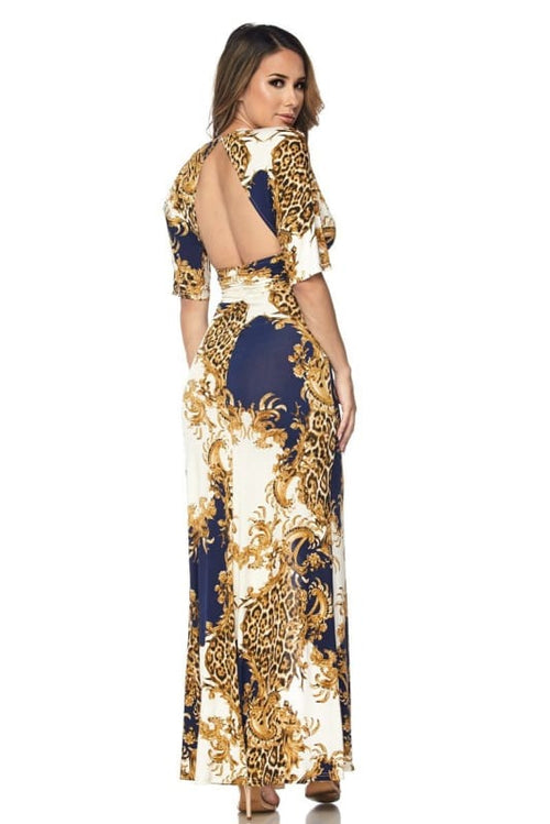 Venechia Royal Maxi Dress Dress
