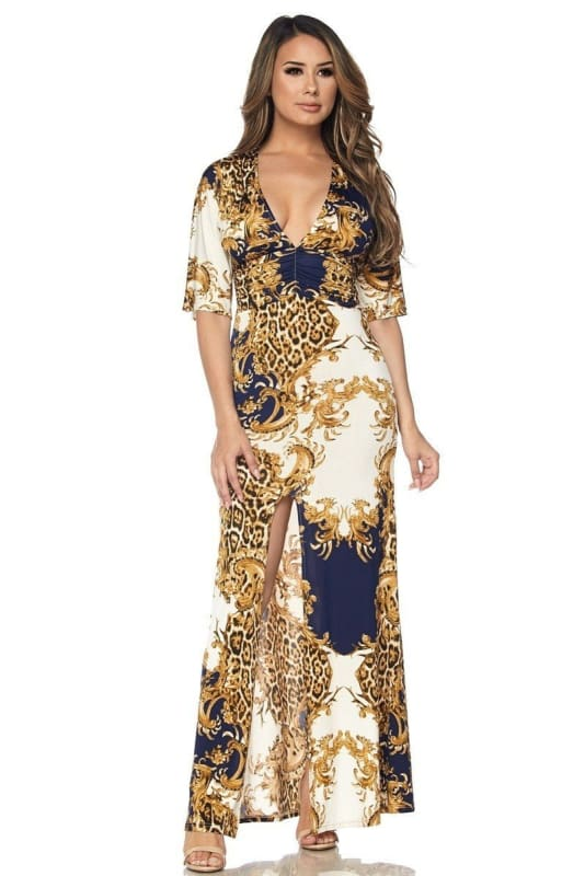 Venechia Royal Maxi Dress S(2-4) Dress