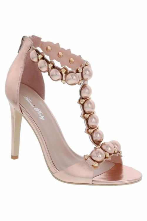 Willa Rose Gold Heel Sandal 5.5 Shoe