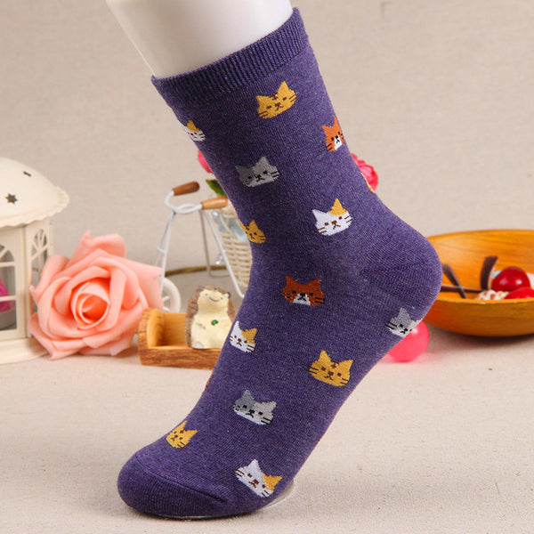 Cute Mini Print Cat Socks