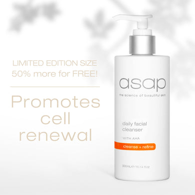 ASAP SKINCARE - DAILY FACIAL CLEANSER 300ML - LIMITED EDITION