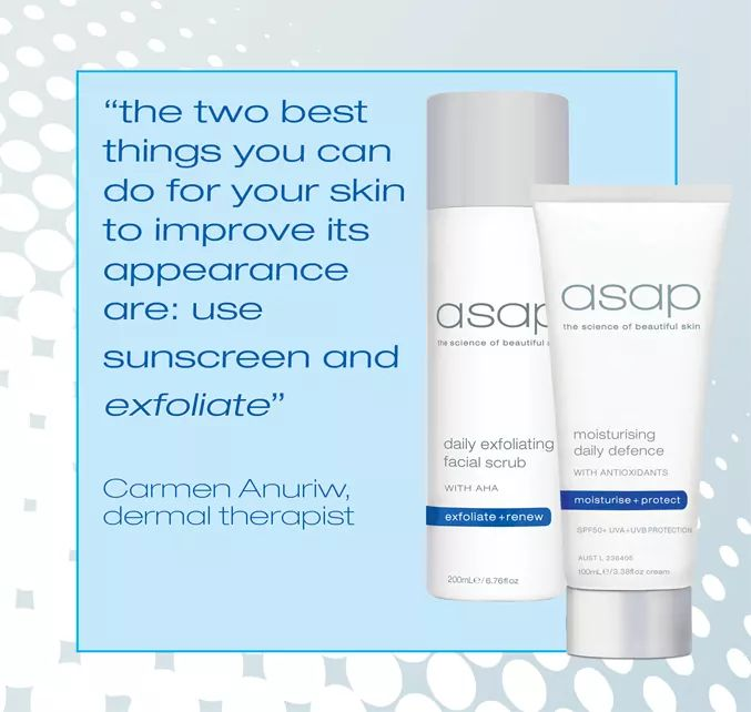 ASAP Skincare  - Scrub + Daily Moisturiser SPF50 + FREE Deluxe facial cloth - Exquisite Laser Clinic