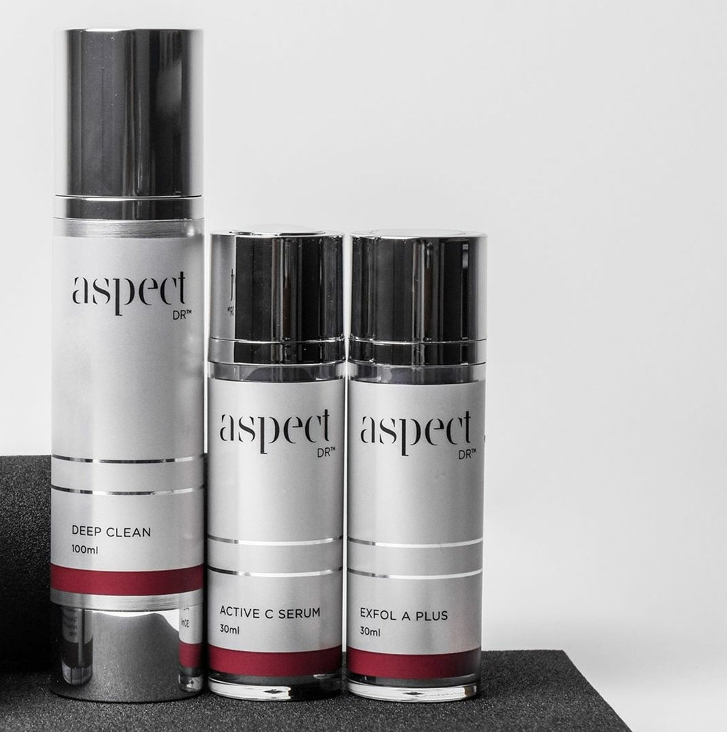 Aspect DR - Deep Clean + Active C Serum + Exfol A Plus Serum