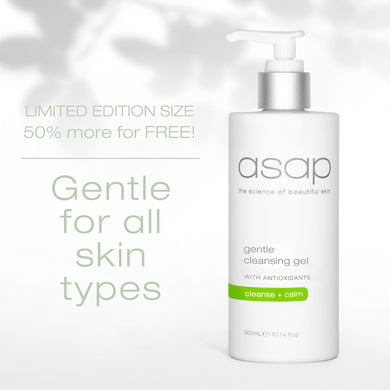 ASAP SKIN PRODUCTS - GENTLE CLEANSING GEL 300ML - Limited Edition