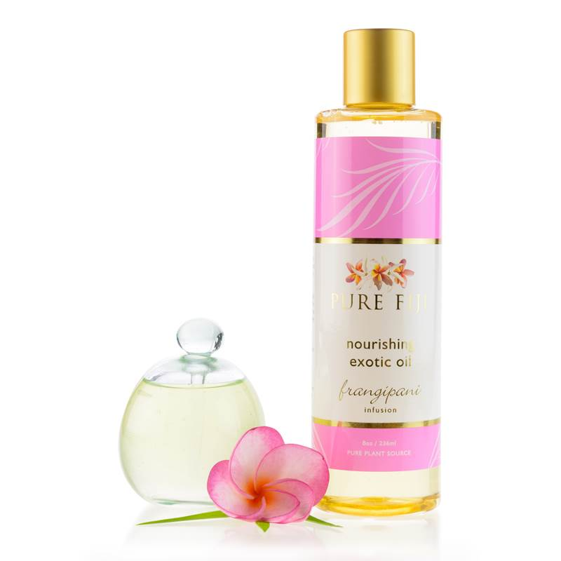 Pure Fiji -  EXOTIC BATH & BODY OIL - Frangipani  8oz (235 ml) - Exquisite Laser Clinic