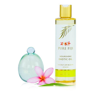 Pure Fiji -  EXOTIC BATH & BODY OIL - Coconut Lime Blossom  8oz (235 ml) - Exquisite Laser Clinic