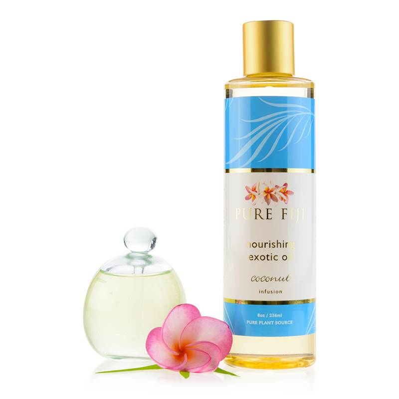 Pure Fiji EXOTIC BATH & BODY OIL - Coconut  8oz (235 ml) - Exquisite Laser Clinic