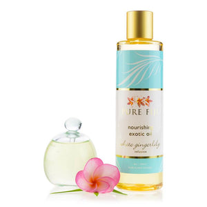 Pure Fiji -  EXOTIC BATH & BODY OIL - White Ginger Lily   8oz (235 ml) - Exquisite Laser Clinic