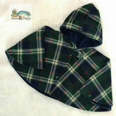 Carseat Poncho - Semi Custom - Green Plaid