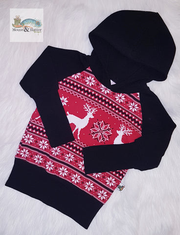 "Grow with me hoodie in ""Red Deer Sweater"" print"