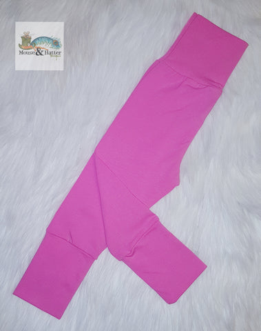 "Grow with me pants without bum circle ""Pink"""