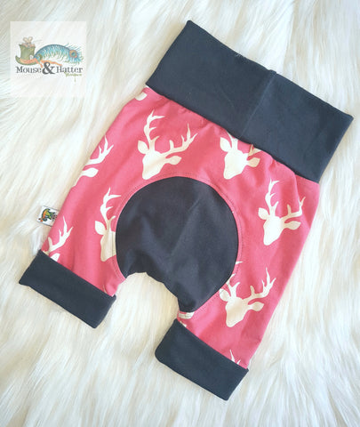 "Grow with me Shorties in ""Pink Bucks"" print Size Large"