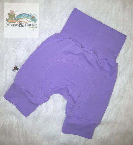 "Grow with me Shorties in ""Lilac"" print Size Large"