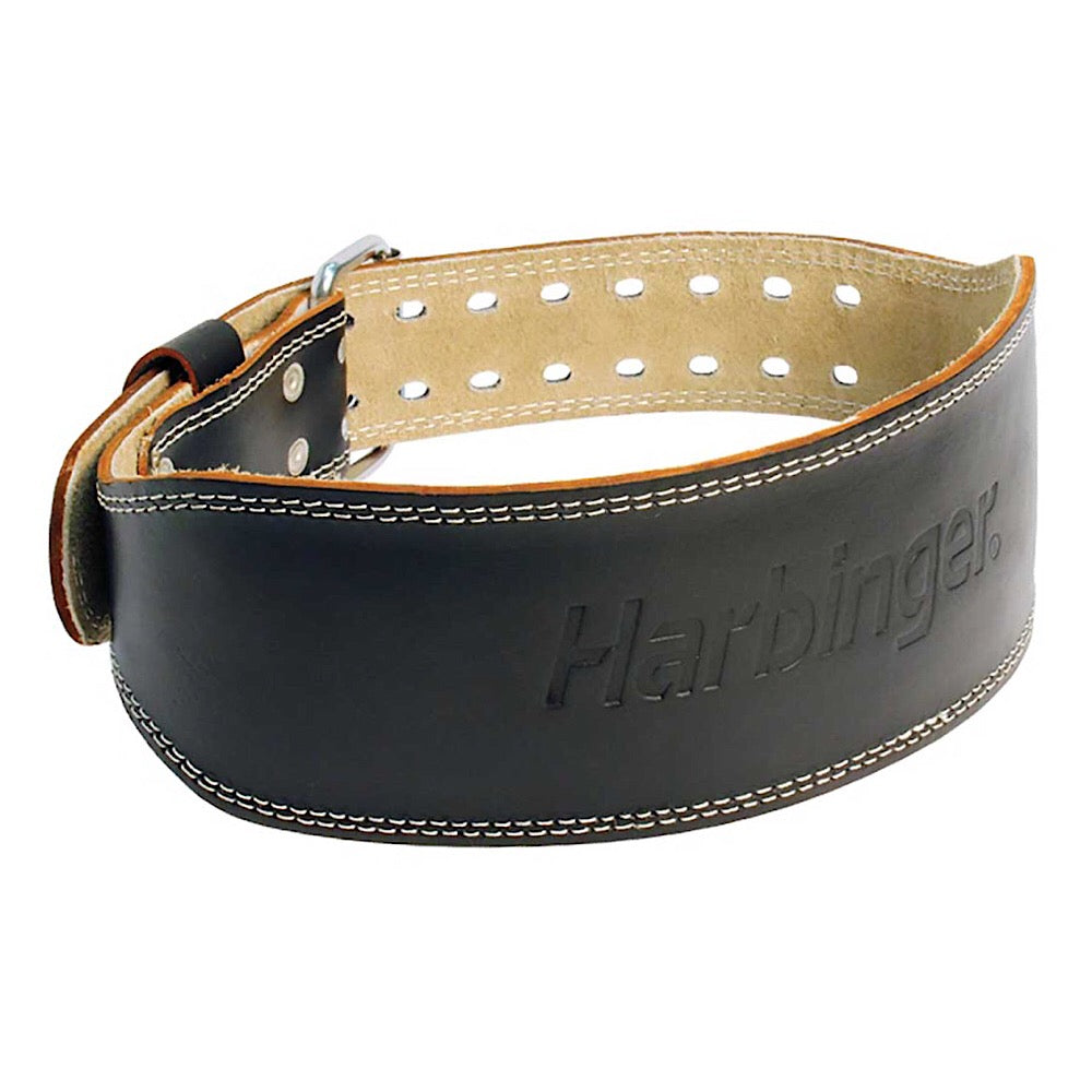 "4"" Padded Leather Weight Lifting Belt"