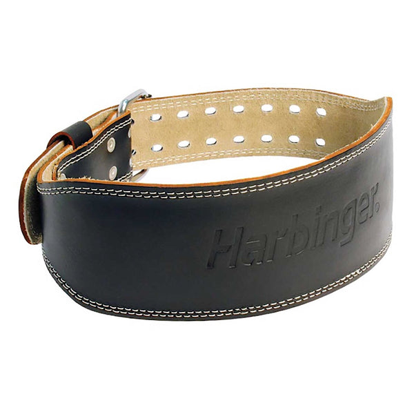 "6"" Padded Leather Weight Lifting Belt"