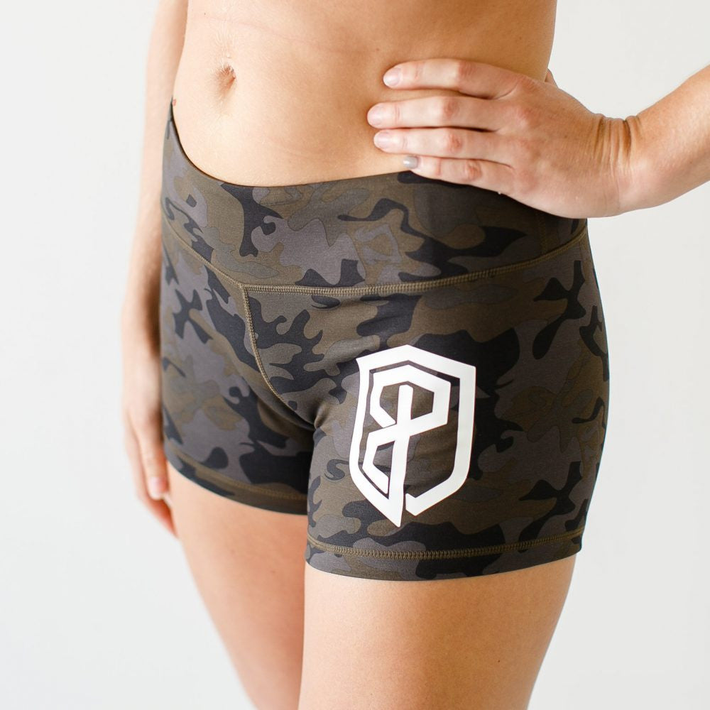 Double Take Booty Shorts (Camouflage)