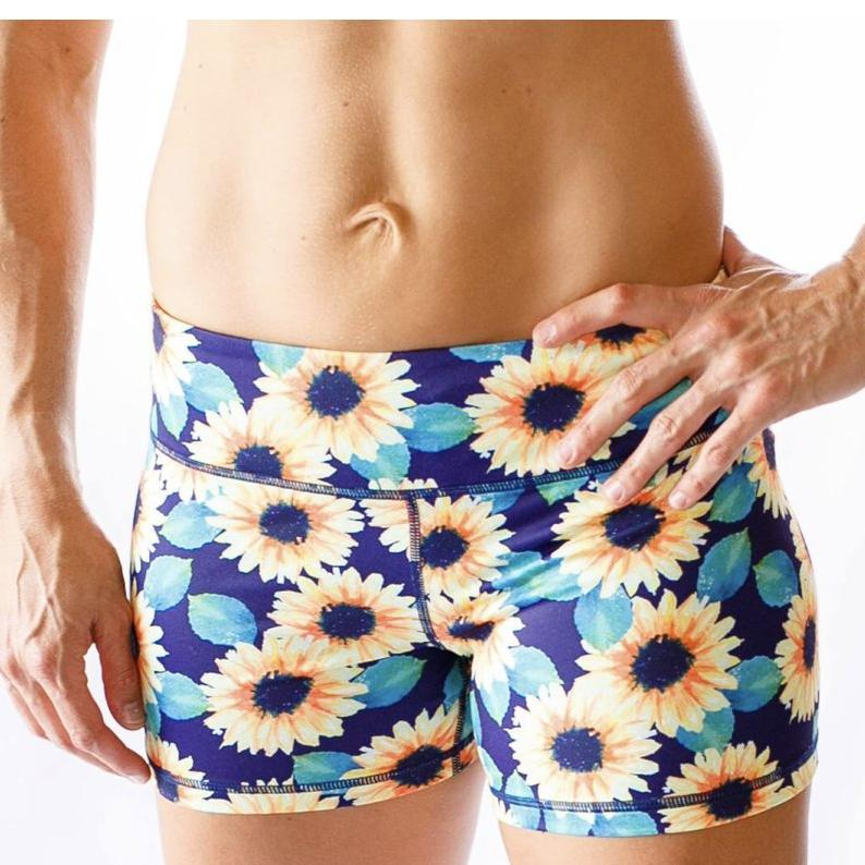 Double  Take Booty Shorts (Sunflower)
