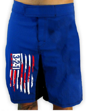 AMERICAN FLAG WOD SHORTS- BLUE