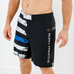 American Defender Shorts 2.0 (Thin Blue Line Police Edition)