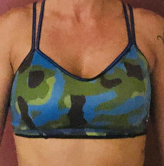 321 Blue/ Black Camo Sports Bra